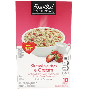 Essential Everyday Strawberries And Cream Instant Oatmeal 350g