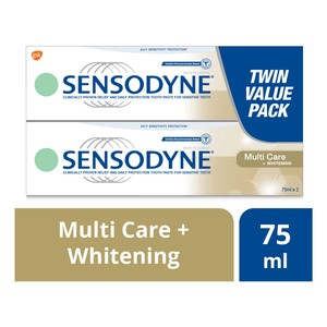 Sensodyne Multi Care + Whitening Twin Pack Toothpaste 2 x 75ml