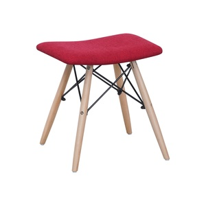 Maple Leaf Home Wooden Stool 32x42x44cm Red