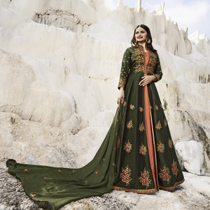 Semi Stitched Women's Gown Suit Vinay Kaseesh Supreme 8524