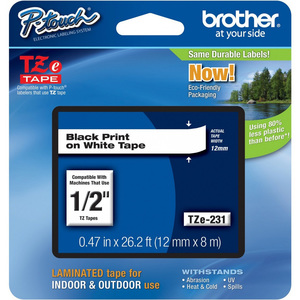 Brother Label Tape 12TZ-231 12mm