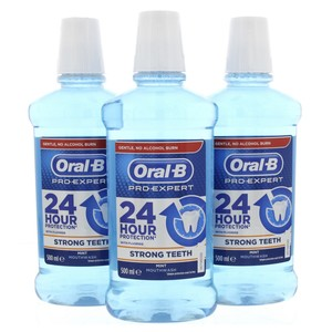 Oral B Pro Expert Strong Teeth Mind Mouthwash 3 x 500ml