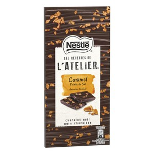 Nestle L'Atelier Dark Chocolate With Salted Caramel 115g