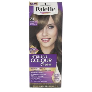 Palette Intensive Colour Cream 7-1 Medium Ash Blonde 1 Packet
