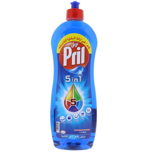 Pril 5 In1 Dish Wash Liquid Blue 1Litre