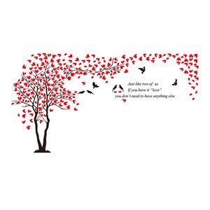 Maple Leaf Home Tree Acrylic Wall Stickers 02 3440x1800mm