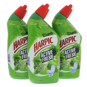 Harpic Liquid Toilet Cleaner Pine 500ml x 3pcs