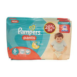 Pampers Pants Size 6, Extra Large, 16+kg 2 x 44pcs