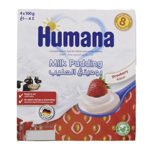 Humana Milk Dessert Strawberry 400g