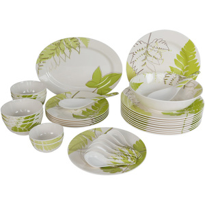Melamine Dinner Set Fern 34pcs