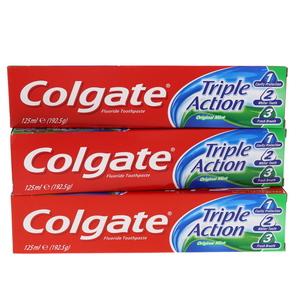 3150d36ee Colgate Triple Action Original Mint Toothpaste 3 x 125ml