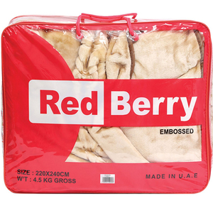 Red Berry Blanket Embossed 220x240cm