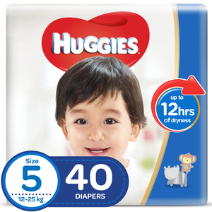 Huggies Diaper Size 5, Junior 12-25kg 40pcs