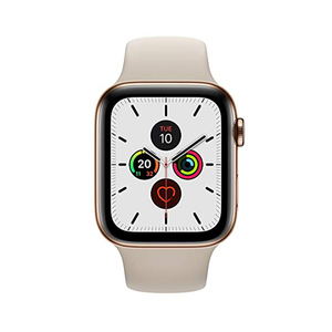 Apple Watch Series 5 GPS + Cellular MWX62AE/A  40mm Gold Stainless Steel Case with Stone Sport Band