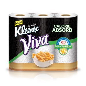 Kleenex Viva Calorie Absorb Kitchen Towel 45 sheets x 3 roll