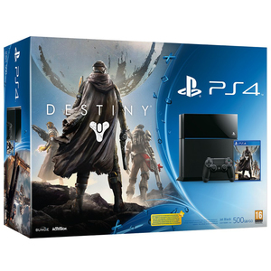 PS4 Console 500GB Black + Destiny