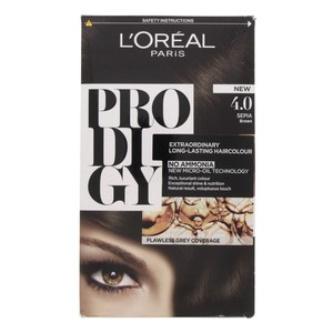 L'Oreal Prodigy Hair Color Sepia Brown 4.0 1 Packet