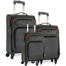 Cellini Urban 4 Wheel Soft Trolley 3pc set (55cm+69cm+76cm)