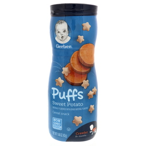 Gerber Puffs Cereal Snak Sweet Potato 42g