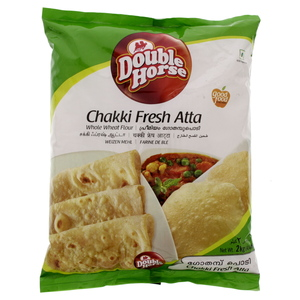 Double Horse Chakki Fresh Atta Whole Wheat Flour 2 Kg