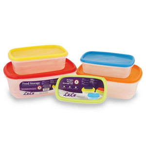 Lulu DS Food Contaner Set 10pcs Assorted