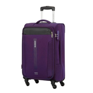 American Tourister Madison 4 Wheel Soft Trolley 56cm Purple