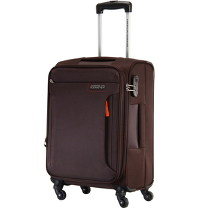 American Tourister Troy 4 Wheel Soft Trolley 55cm Chocolate Brown