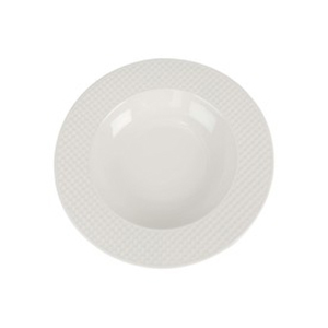 Qualitier Soup Plate White 23cm per pc