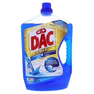 Dac Gold Cleaner + Disinfectant Ocean Breeze 3Litre