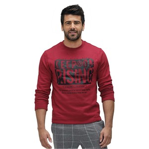 John Louis Men's Pull Over Red ZRG06
