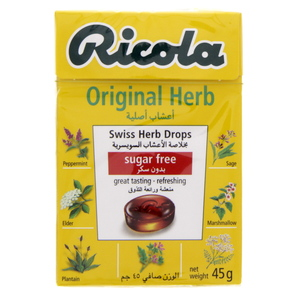 Ricola Original Herb Swiss Herb Drops Sugar Free 45g