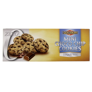 Quickbury Mini Choco Chip Cookies Sugar Free 125g