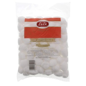 Lulu White Cotton Balls 100pcs