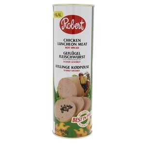 Robert Chicken Luncheon Meat Hot Spiced 850g