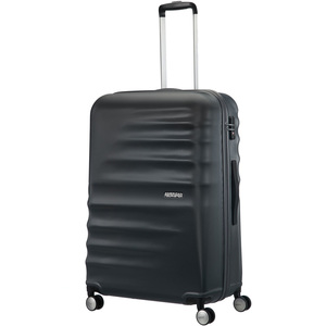 American Tourister Preston 4 Wheel Hard Trolley 55cm Black