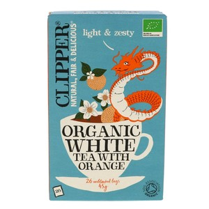 Clipper Organic White Tea With Orange 26pcs