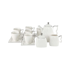 Pearl Noire Tea Set W0432 15pcs