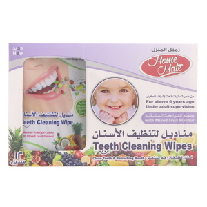 Home Mate Teeth Cleaning Wipes With Mixed Fruit Flavour12Pcs
