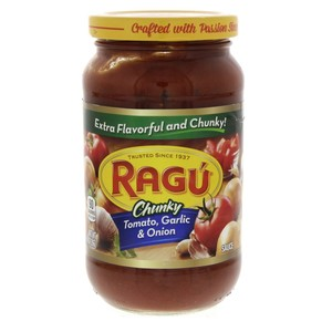 Ragu Chunky Tomato, Garlic And Onion Sauce 396g