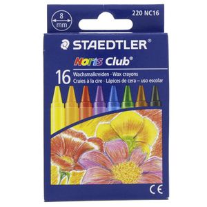 Staedtler Noris Club Wax Crayons 220NC16 16 Piece