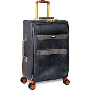 Beelite 4 Wheel Leather Trolley 23inch Assorted Color