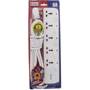 Sirocco Extension Cord 5Way 4Mtr