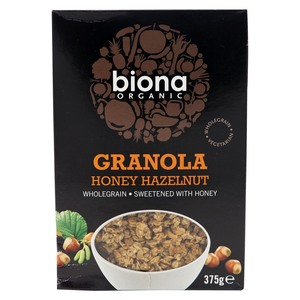 Biona Organic Granola Honey Hazelnut 375g