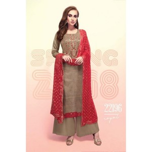 Semi Stitched Women's Churidar Material Fiona Royal 22196