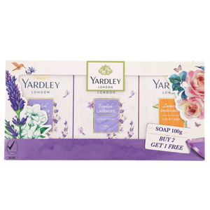 Yardley Luxury Soap 3Pcs Assorted