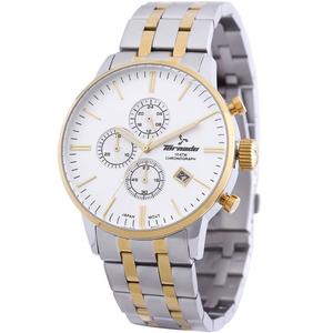 Tornado Men's Chronograph Watch Silver Dial Stainless Steel Band T6102-GBTSG