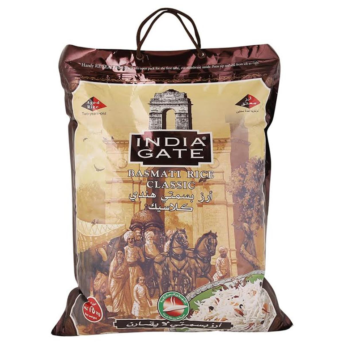 Buy India Gate Basmati Rice Classic 10kg - Basmati - Lulu