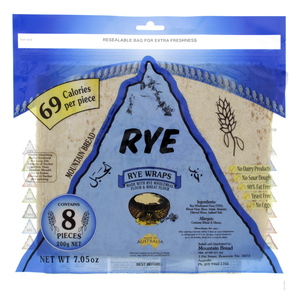 Mountain Bread Rye Wraps 8s 200g