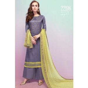Semi Stitched Women's Churidar Material Fiona Royal 22198