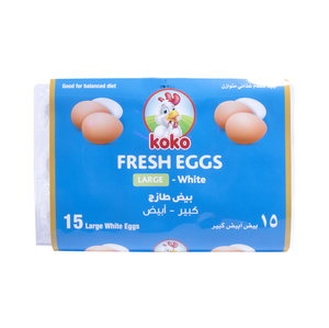 Koko White Eggs Large 15pcs